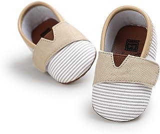 4449bdcf Zapatos de Bebe Raya Primeros Pasos, Morbuy Niño y Niña Recién Nacido Cuna  Suela Blanda