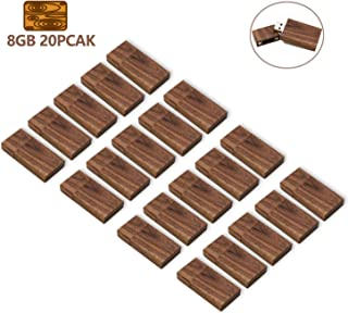 Wood USB Flash Drive 2GB 8GB 10 Pack Wooden USB Stick Memory Stick Thumb Drive Pendrive Gig Stick Creative Gift for Office Supplies Photography Studio Walnut(20) 8GB