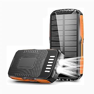 Solar Power Bank 25000mAh, Qi Wireless Portable Solar Power Bank Panel Laddare, med LED ficklampa Stora Kapacitet Telefonl...