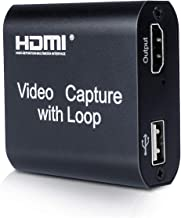 Capture Card, MONODEAL HDMI Video Game Converter with Loop Out, HDMI to USB Capture Device Support Full HD 1080P Video for...
