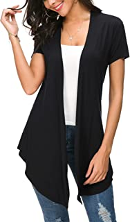 Womens Open Front Short Sleeve Cardigans for Women...