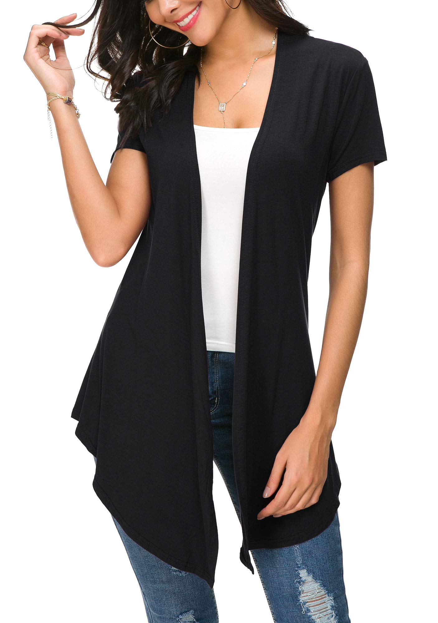 Womens Solid Front Sleeve Cardigan