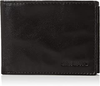 Steve Madden mens Leather Rfid Blocking Wallet With Extra Capacity Id Window Wallet
