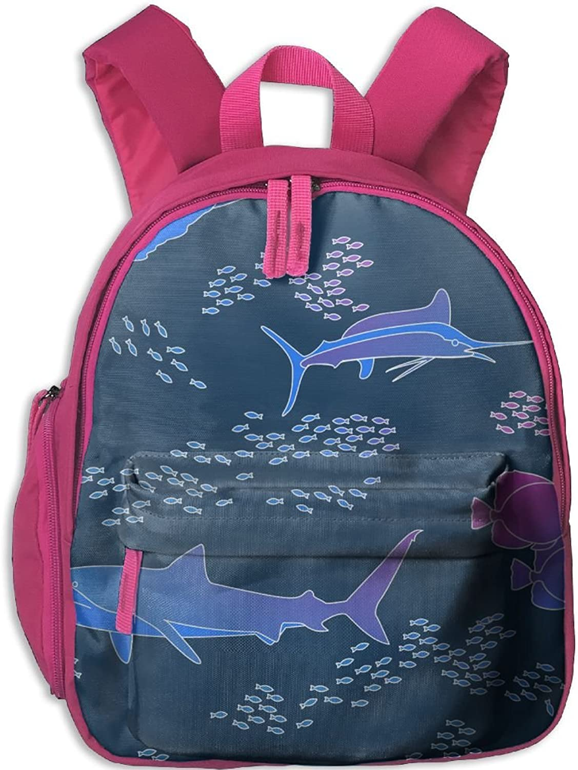 School Bag Vibrant Ocean(10482) With Durable Travel Camping Backpack For Boys And Girls