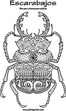 Escarabajos libro para colorear para adultos 1 (Volume 1) (Spanish Edition)