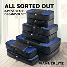 Wanderlite Packing Cube Set - 7 Pcs/8 Pcs Travel Luggage Packing Organizer Bag Set