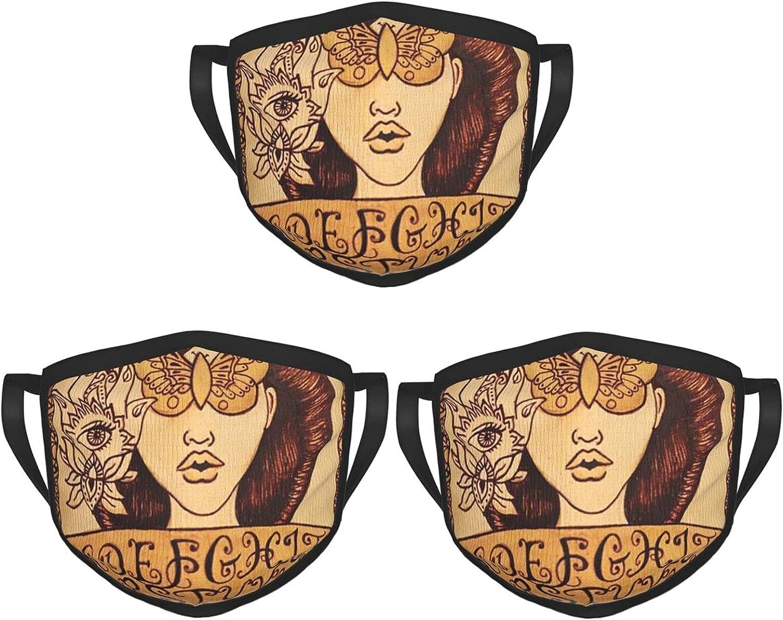 Balaclava Earmuffs Ouija Board Gothic Butterfly Ouija Skateboard Art Face Mouth Cover Mask Reusable Dust Scarf Towel Cover Headwrap
