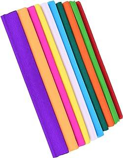KINOKINO クレープ 紙 ペーパー フラワー 材料 (10色セット)