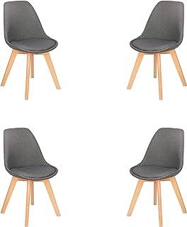 Lot de 2/4/6/8 chaises médiévales nordiques pour salle à manger, cuisine, salon, chambre à coucher, meubles de maison, cha...
