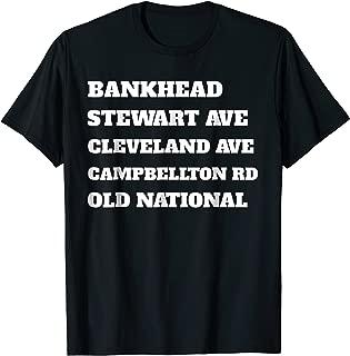 Atlanta Street Names T Shirt