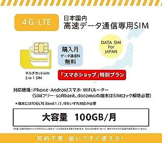 キャリア SIM prepaid DATA SIM (100GBプラン, 6ヶ月,SIMのみ)