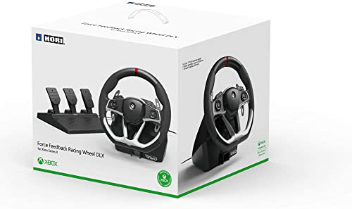 HORI Force Feedback Racing Wheel DLX Designed for Xbox Series X|S by HORI - Officially Licensed by Microsoft