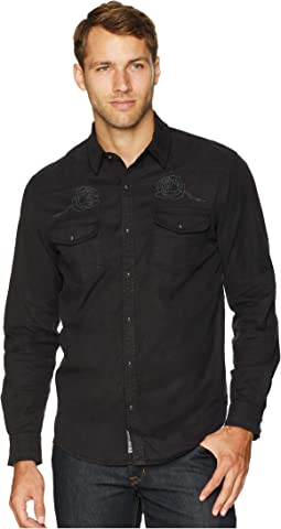 Long Sleeve Embroidered Western Shirt