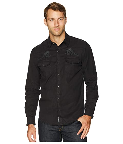 cf7bc5a295 Lucky Brand Long Sleeve Embroidered Western Shirt at 6pm