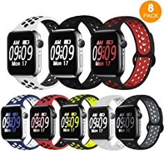 DOBSTFY Sport Band Compatible for Watch Bands 38mm 40mm 42mm 44mm, Breathable Silicone Sport Strap Replacement Wristband for 2019 Watch Band Series 5 4 3 2 1, Edition, S/M M/L for Women Men Kids