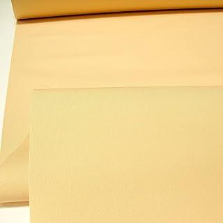 TOLKO Sonnenschutz Markisen-Stoffe als Meterware Zum Nähen mit UV-Schutz 50 | Wasserdicht, Extra Langlebig - Ohne Ausbleichen Soft Apricot-Bicolor