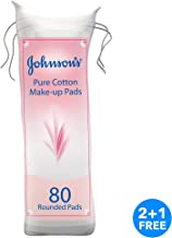JOHNSON'S Pure Cotton Pads 80 round pads pack of 3