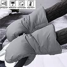 Guantes para cochecito de bebé, Bebé Guantes de Silla de Paseo Extra Gruesos, Impermeables, Anticongelantes, Para uso en Invierno-Gray
