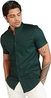 Iconic Men's 2300592 CHUR Regular Shirt, Green