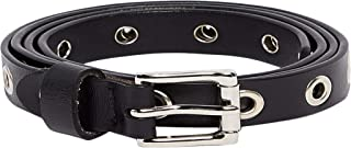Eyelet Loops Square Buckle Belt For Women 40227301 - One Size Closet by Styli