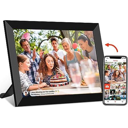 Somikon Digitale Bilderrahmen Wlan Bilderrahmen Mit 17 8 Cm Ips Touchscreen Weltweitem Bild Upload Digitaler Fotorahmen Küche Haushalt