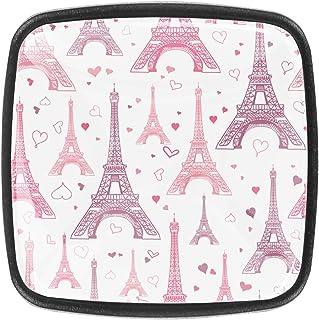 Tour Eiffel rose pastel 4 PCS Tiroir de Porte Poignée, Bouton de Meubles, Boutons de Tiroir, Boutons de Porte, Poignées de...