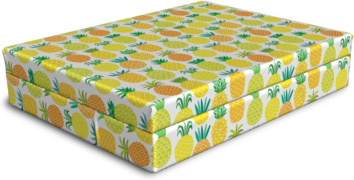 National products Ambesonne Pineapple Recommendation Dog Bed Fresh Hawaiian and in Shapes Fruits