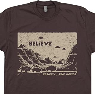 a0e32f48941bd UFO T Shirts Believe Roswell Tee New Mexico Area 51 Alien Graphic Flying  Saucer Science Fiction