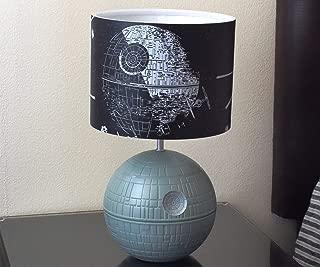 Star Wars 3D Death Star Desktop LED Lamp Light with Printed Fight Scene Shade