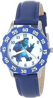 Disney Kids' W000933 Tween James P. Sulley Sullivan Stainless Steel Blue Bezel Blue Leather Strap Watch