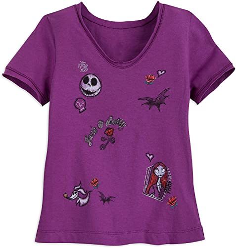 Disney Jack Skellington and Sally T-Shirt for Girls Taille XS (4) Multi
