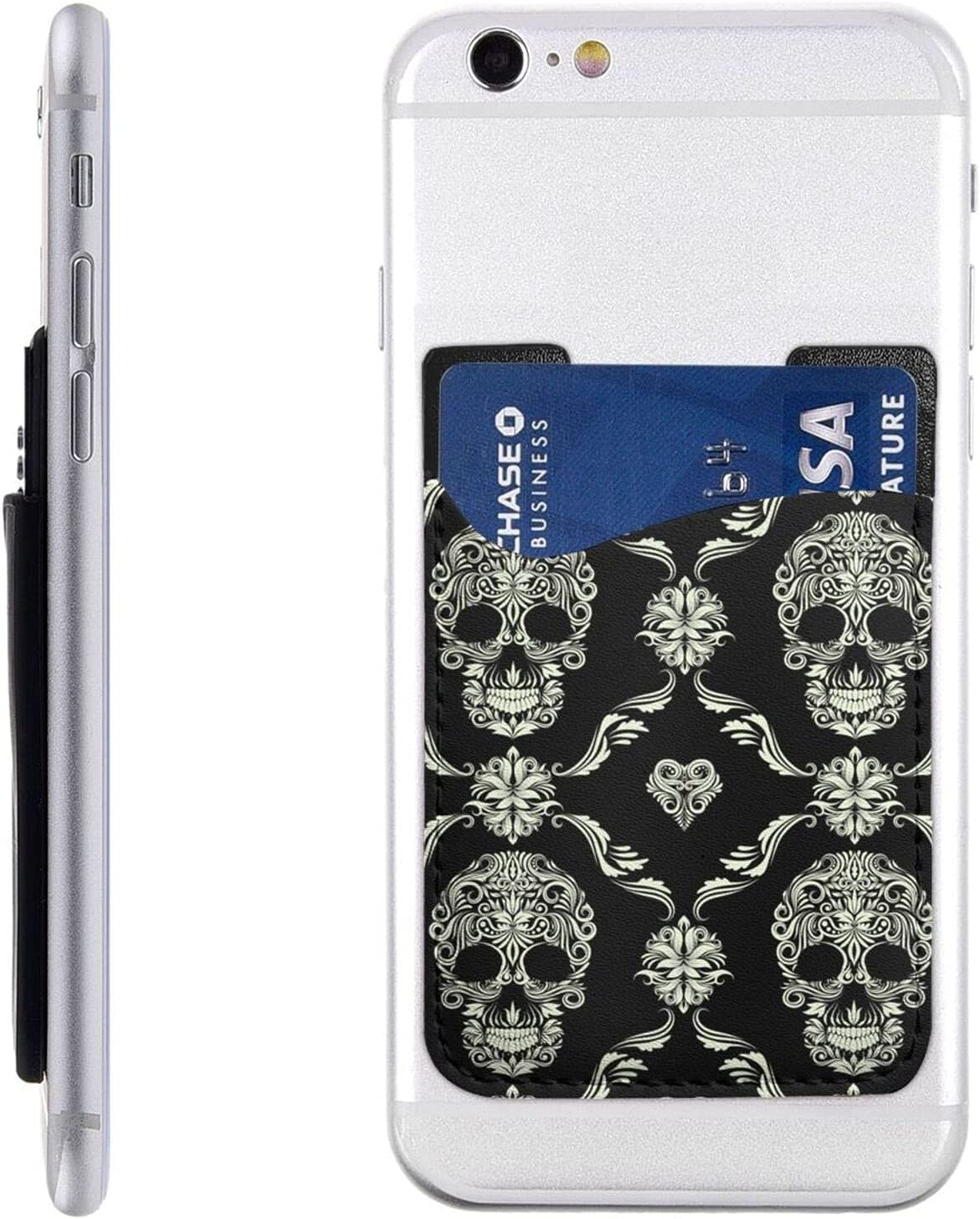 Flowers Skull Ornamental Pattern Phone Raleigh Mall Cell Card St Seasonal Wrap Introduction Holder