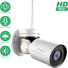 [PTZ & Built-in Mic] xmartO Add-on 960p HD Wireless Pan Tilt WiFi Security Camera with Audio, 180° Pan and 55° Tilt Remote Control, 80ft IR Night Vision, 4mm Lens, 4X Digital Zoom