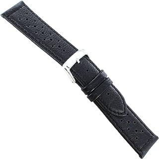 20mm Speidel Black Genuine Calfskin Leather Mens Driving Band Regular 5010 720