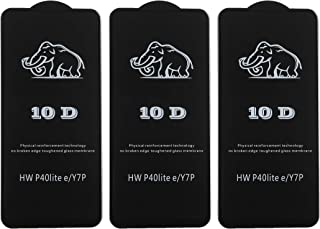 Dragon Glass 10D Screen Protector for Huawei P40 Lite and Huawei Y7P Mobile Phones, Set of 3 - Black