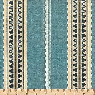 Laura & Kiran Southwest Stripe Catalan Fabric by The Yard, Blues