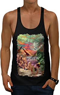 Sublime Landscape Mens Gym Tank Top, Artist Athletic Sport Shirt
