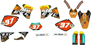 JFG RACING Customize Motorcycle Complete Adhesive Decals Stickers Graphics Kit For EXC 125-530 1998-2003