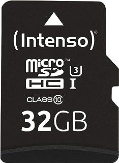 Intenso Professional microSDHC UHS I Class 10 32GB Speicherkarte inkl. SD Adapter (bis 90Mbps) schwarz