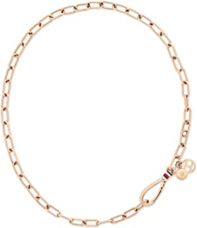 TOMMY HILFIGER WOMEN'S IONIC PLATED CARNATION GOLD STEEL NECKLACES -2780333