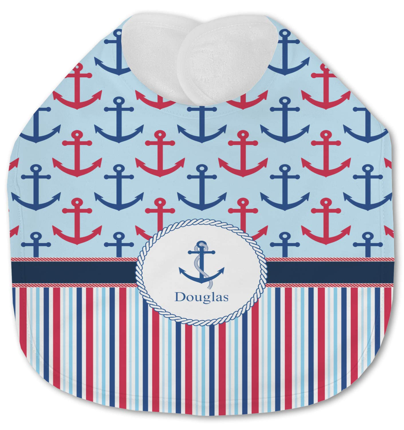 Sales Anchors Stripes Jersey 4 years warranty Knit Baby Text w or Bib Name