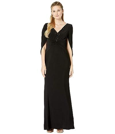 Adrianna Papell Jersey Long Dress (Black) Women