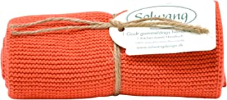 Solwang Danish Cotton in 100% Eco-Tex Certified or GOTS Certified Kitchen Hand Towels Made in India (Terracotta)