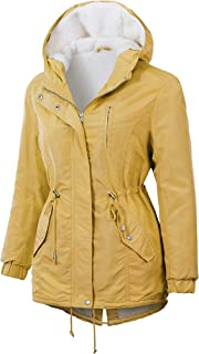 OLLIE ARNES Women's Quilted or Inner Fur Lined Sherpa Anorak Down Parka Jacket