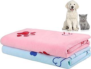 حوله حمام سگ حوله حوله ای سگ خشک کننده سریع Aodaer 2 Pieces حوله سگ حوله حیوان خانگی برای سگ حوله حیوان خانگی Microfiber حوله جاذب حوله بزرگ سگ برای سگ و توله سگ