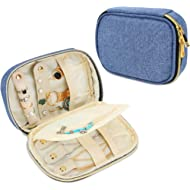 Teamoy Small Jewelry Travel Case, Portable Jewelry Organizer Bag for Earrings, Necklace, Rings...
