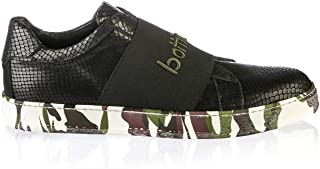 6804 Italian Designer Black Piton Leather Man Sneakers