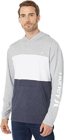 Blocked Hooded Long Sleeve T-Shirt