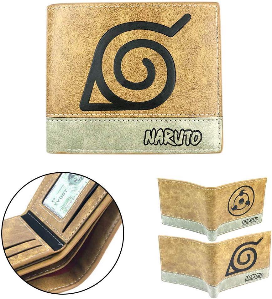 Animation Japonaise Naruto Shippuden Porte-monnaie Porte-monnaie 2 volets 12 x 10 x 2 cm lunanana Portefeuille Anime Naruto