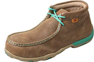 Twisted X Women's Casual Work Driving Moc, Color: Bomber/Turquoise (WDMAL01)